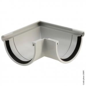 Angle extérieur de gouttière développé de 16 - GIRPI - PVC - Gris