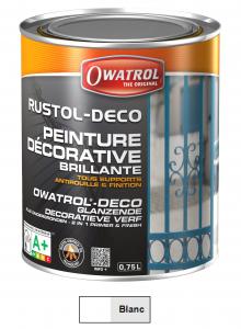Peinture antirouille - Owatrol - Rustol-Déco - Pot de 0,75 L - Blanc