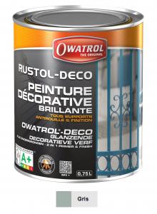 Peinture antirouille - Owatrol - Rustol-Déco - Pot de 0,75 L - Gris fenêtre