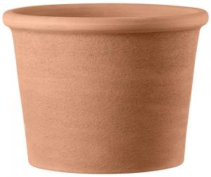 Pot cilindro bordato primitivo - Deroma - white - Ø 33 cm