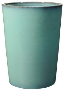 Pot haut Flamenco - Deroma - menthe - H 33 cm - Ø 25 cm