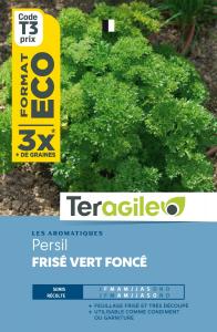 Persil frisée vert foncé - Teragile - Format économique 15 g