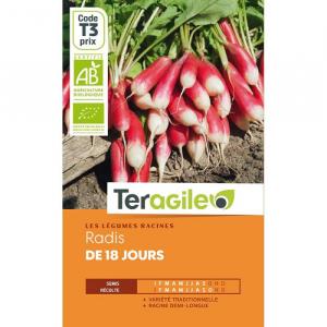 Radis de 18 jours - Bio - Graines - Teragile