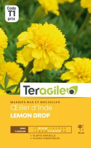 Oeillet d'Inde Lemon drop - Graines - Teragile