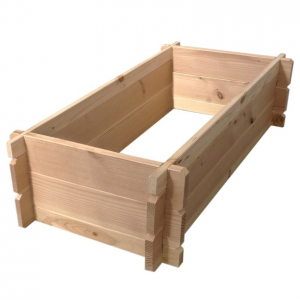 Rectangle potager en bois Douglas - SUN BOIS - 120 x 45 x 35 cm