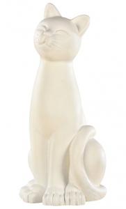 Statue chat ton ivoire Hairie Grandon - H 42 cm