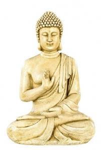 Bouddha Hindou ton vieilli Hairie Grandon - H 40,5 cm