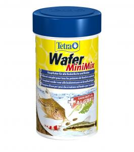 Aliment complet pour poissons de fond et crustacés - Tetra Wafer Mini Mix - 100 ml