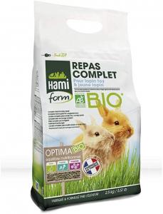 Repas Complet Prémium Optima Bio - Hamiform - Pour  lapins toy et lapereaux - sac de 2,5Kg
