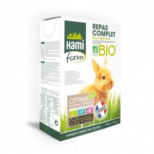 Repas Complet Bio - Hamiform - Pour  lapins nain - boite de 900g