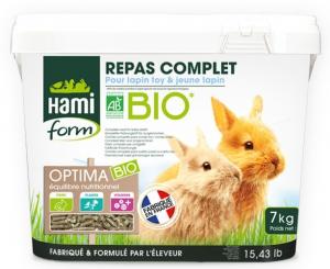 Repas complet pour lapin Toy et jeune lapin - Hami form - Optima bio - 7 kg