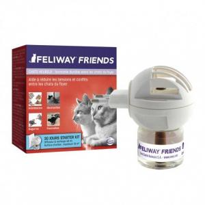 Feliway friends - Contre les conflits et le stress des chats - Diffuseur et recharge - 48 ml
