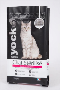 Croquette pour chat stérilisé - Yock Nutrition - saumon - 3 kg