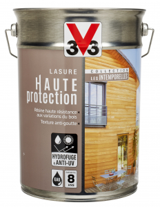 Lasure haute protection V33 - Incolore brut - 5 L