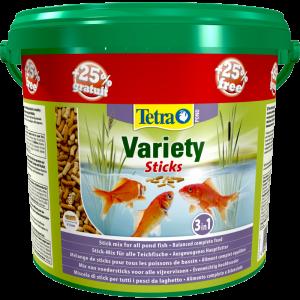 Aliment complet pour poissons de bassin - Tetra Pond Variety sticks - 4 L + 25 % gratuit