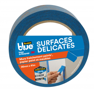 Masquage surfaces délicates Scotchblue - 3M - Bleu - 41 m x 36 mm