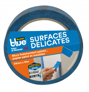 Masquage surfaces délicates Scotchblue - 3M - Bleu - 41 m x 24 mm
