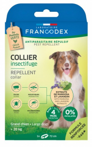 Collier insectifuge antiparasitaire - Francodex - Pour grands chiens - 72cm