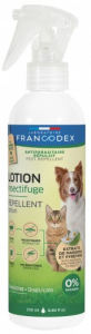 Lotion insectifuge antiparasitaire - Francodex - Pour chiens et chats - Pump spray de 250ml