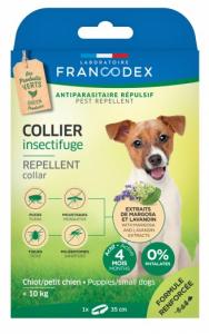 Collier insectifuge antiparasitaire - Francodex - Pour chiots et petits chiens - 60cm