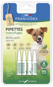 PIPETTES ANTIPARA PT CHIEN X4
