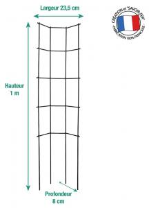 Treillage métal trapèze - Moulin Louis - fer vieilli - 1 x 0,32 m