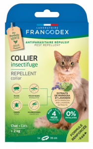 Collier insectifuge - Francodex - Pour chats - 35cm