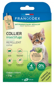 Collier insectifuge - Francodex - Pour chatons - 35cm