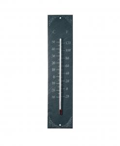 Thermomètre schiste classique - Esschert Design - 45 cm