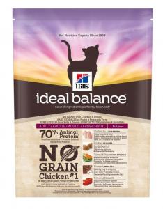 Aliment chat Ideal Balance Feline Adult sans graine au Poulet & Pomme de terre - Hill's - 300 g