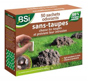 Répulsif Sans-Taupes - BSI - 50 sachets - 100 m²