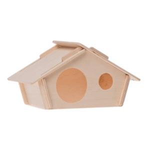 Maison bois Néo - Zolux - Pour rongeurs - 19 x 11 x 11 cm