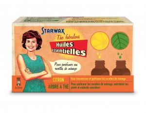 Coffret Huiles essentielles - Starwax The Fabulous - Citron / Arbre à thé - 2 x 10 ml