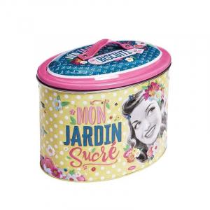Boîte à biscuits 'Mon Jardin Sucré' - Natives - Métal - 19,2 x 13 x h 14,9 cm
