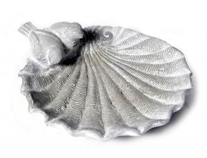 Sculpture bain d'oiseau Coquille - Méga - 28 x 26 x 8,5 cm