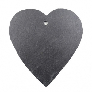 Cœur en ardoise pour le jardin - Comptoir Botanique - 12 cm - M