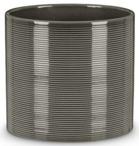 Cache-pot 828 - Deroma - Glass grey - Ø 14 cm