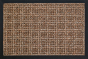 Tapis impact - Carré marron - 40 x 60 cm
