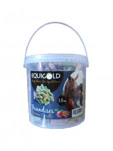 Friandises Pomme-Carotte Equigold - Seau de 1,5 kg