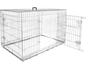 Cage métallique Kéo XL - Flamingo - 109 x 70 x 76 cm - 2 portes