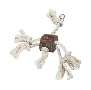 Jouet pour perroquet Pendentif tronc d'arbre - Flamingo - 25 cm