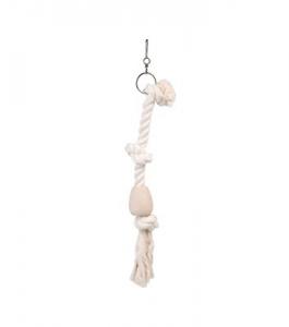 Pendentif corde Tarzan - Flamingo - Ø 5 x 35 cm - S