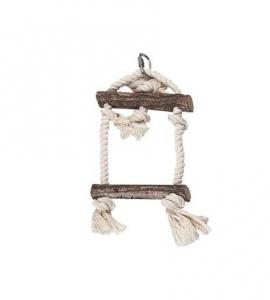 Jouet pour perroquet Balançoire tronc d'arbre - Flamingo - S - 25 cm