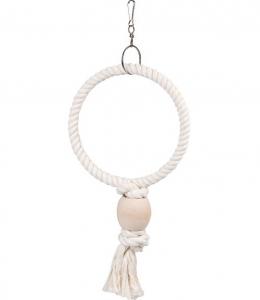 Pendentif anneau corde Ring - Flamingo - 19,5 x 5 x 36 cm - S
