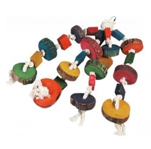 Jouet pour perroquet pendentif 4 cordes - Flamingo - 55 cm