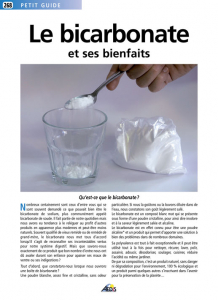 Le bicarbonate et ses bienfaits - Livre