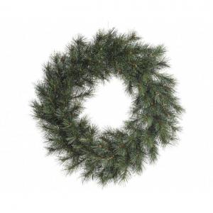 Couronne malmö - Givré - 135 branches -Vert/blanc -  Ø 60 cm
