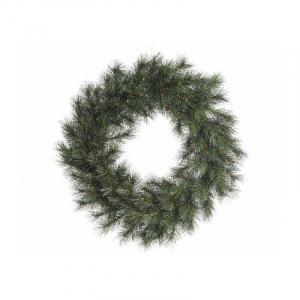 Couronne malmö - Givré - 110 branches -Vert/blanc -  Ø 50 cm