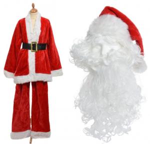 Costume père noël deluxe - Rouge/blanc - Adulte