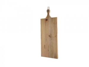 Planche à découper - Bois mangue - Roseavec œillet - Naturel - 48x26,5x3,5cm